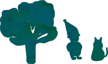 画像-木と妖精と猫